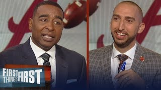 Download Nick Wright and Cris Carter impressed with Alabama's sustained dominance | CFB | FIRST THINGS FIRST Video