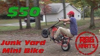 Download $50 Junk Yard Mini Bike Build & Wreck ~ Mini Bike Monday Video
