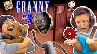 Download GRANNY HAS NO HEAD, SHE BROKE MY CHAIR & HAS NEW SECRETS! (FGTEEV ESCAPE GRANNY #3) GURKEY! Video
