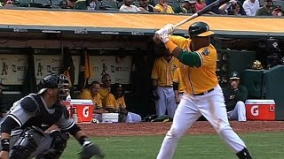 Download CWS@OAK: Cespedes' three-hit game powers A's to win Video