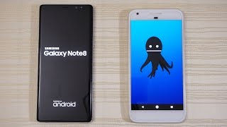 Download Pixel XL Android 8.0 Oreo vs Galaxy Note 8 - Speed Test! (4K) Video