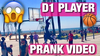 Download D1 BASKETBALL PLAYER PRETENDS TO BE SURFER PRANK!! DUNKING IN A WETSUIT! VENICE BEACH! Video