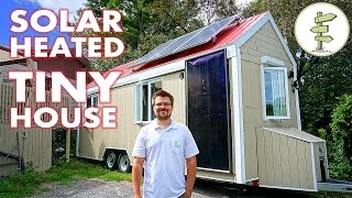 Download Living in a Tiny House Heated with FREE Solar Power in Canada Video