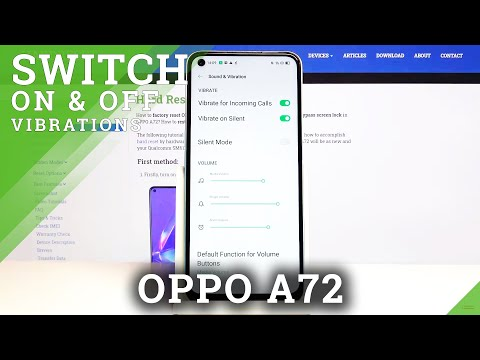How to Enter Vibration Settings in Oppo A72 - Manage Vibrations in OPPO