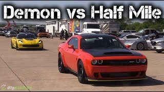 Download Dodge Demon Takes on C7 Corvette Z06, Mustang, More in Half Mile! Video