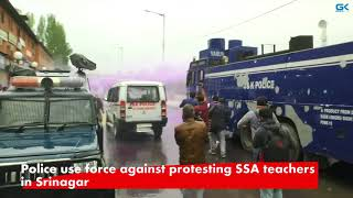 Download Police use force against protesting SSA teachers in Srinagar Video
