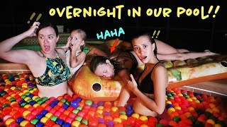 Download 24 HRS OVERNIGHT IN OUR POOL!! Video