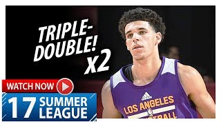 Download Lonzo Ball Triple-Double Highlights vs Cavaliers (2017.07.13) Summer League - 16 Pts, 12 Ast, 10 Reb Video
