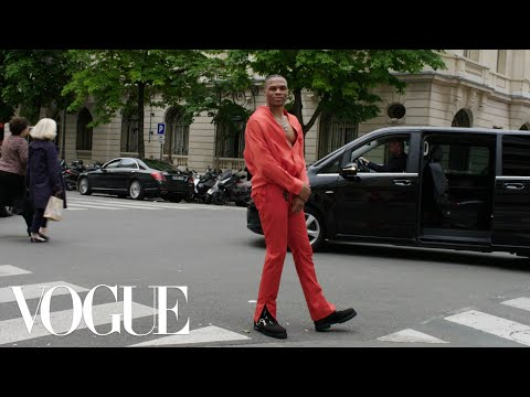 Inside Russell Westbrook's Pregame for the Louis Vuitton Men's Show in Paris | Vogue