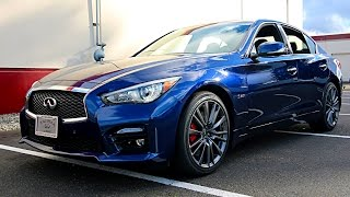 Download 2017 INFINITI Q50 Red Sport 400 in Iridium Blue and new Design Package Video