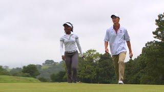 Download Stanford golf standouts Mariah Stackhouse, Maverick McNealy tee it off together Video