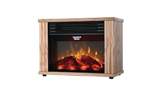 Download Sharper Image 10″ Electronic Fireplace Heater Video