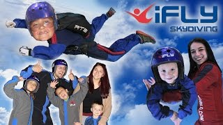 Download KIDS GO INDOOR SKYDIVING!! FUNnel Vision Competition @ iFly Dallas, TX (CHALLENGE? Who Flew Better?) Video