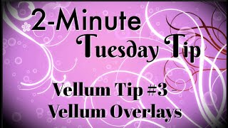 Download Simply Simple 2-MINUTE TUESDAY TIP - Vellum Tip #3 - Vellum Overlays by Connie Stewart Video