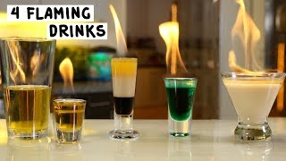 Download Four Flaming Drinks Video