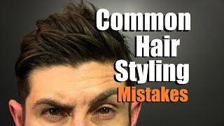 Download 5 MOST Common Hair Styling Mistakes Men Make | How To Have Awesome Hair Video