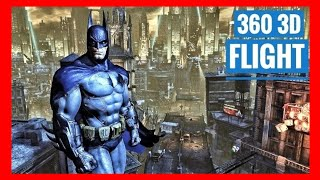 Download VR 360 3D Batman VR Arkham Flight POV 180° [Google Cardboard VR180] Virtual Reality Video 180 VR 3D Video