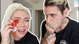 Download CAT SCRATCHED MY EYE PRANK! ( 911 ALMOST CALLED ) | NICOLE SKYES Video