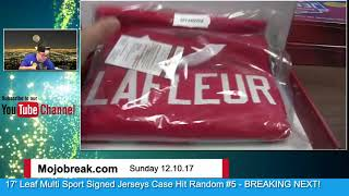 Download 12/10 - 2017 Leaf Multi Sport Autographed Jersey 8 Box Case Break Hit Random #5 Video