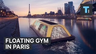 Download Floating gym in Paris powered by exercising commuters Video