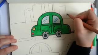 Download kolay araba çizimi / How to drawing a car? Video