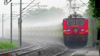 Download TRAINS IN RAINS 2 | RAJDHANI+ POORVA+ DURONTO+SHATABDI | WAP7 , WAP4 , WDP 4 Heavy Monsoon Rain Video