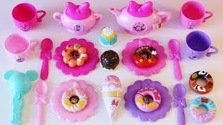 Download Minnie Mouse Bowlicious Tea Set Ice Cream Shop Donut Shop toys for toddlers preschoolers Video