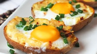 Download Twice Baked Potato with Egg on Top Video