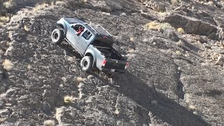 Download 2014 Nissan Frontier Pro-4X Lifted Climbing the Wall (definitely rock crawling) driving up a wall Video