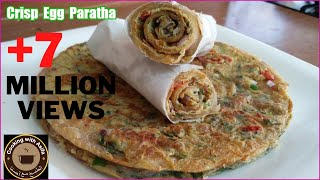Download Crispy egg paratha recipe | homemade restaurant-style flaky layered egg paratha roll-anda paratha- Video