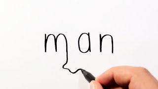 Download How To Draw A Man From The Word Man - Wordtoons Cartoon Drawing Video