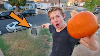 Download IMPOSSIBLE PUMPKIN TRICK SHOTS! Video
