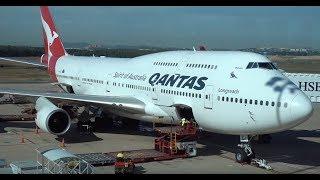 Download QANTAS Boeing 747-400ER / Brisbane to Los Angeles / 4K VIDEO ! Video