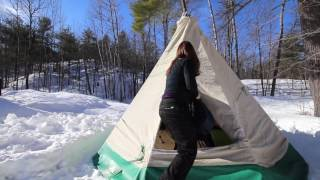 Download Homemade Hot Tent Tipi for Winter Camping by Camper Christina Video