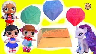 Download Surprise Dig For Gemstones & Gold with My Little Pony + LOL Kids - Cookie Swirl C Video Video