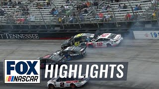 Download Ryan Blaney gets caught in big wreck after strong start   2018 BRISTOL   FOX NASCAR Video