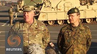 Download U.S. tanks sent to eastern Europe deployment Video
