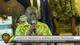 Download Launch of Presidential Business Support Programme Video