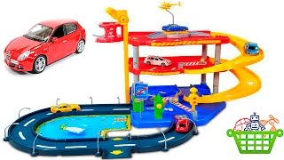Download Cars for Kids - Burago Garage Parking Playset. Машинки с треком для детей Video