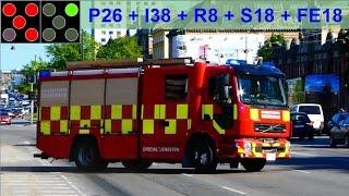 Download 5 X fire units hovedstadens beredskab brandbil i udrykning Video