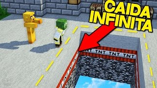 Download ¡YOUTUBERS VS CAIDA INFINITA! | MINECRAFT TROLL INFINITE DROPPER Video
