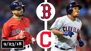 Download Boston Red Sox vs Cleveland Indians Highlights || September 23, 2018 Video