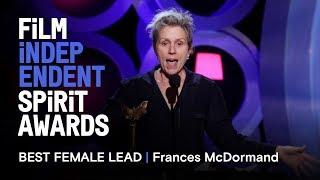 Download FRANCES MCDORMAND wins Best Female Lead at the 2018 Film Independent Spirit Awards Video