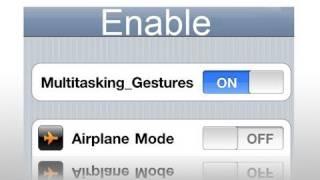 Download Enable Multitasking Gestures iOS 4.3.3 Video