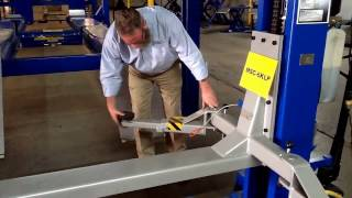 Download MSC6K-LP Portable Single Post Car Lift Video