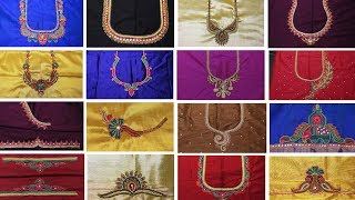 Download Hand Embroidery for Beginners | Latest maggam work Blouse Designs | Hand Works | My Creative Hub Video