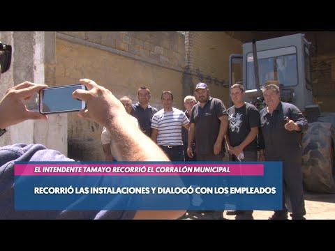 El Intendente Tamayo visitó el Corralón Municipal