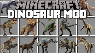 Download Minecraft DINOSAUR MOD / FIGHT AND DEFEND AGAINST THE REALISTIC FLESH EATING DINOSAURS!! Minecraft Video