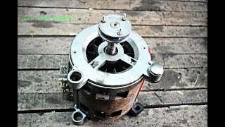 Download DO NOT THROW THE OLD WASHING MACHINE MOTOR IN THE TRASH / DIY LATHE FOR WOOD Video