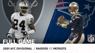Download 2001 AFC Divisional Round: Raiders vs. Patriots | ″Tuck Rule Game″ | NFL Full Game Video